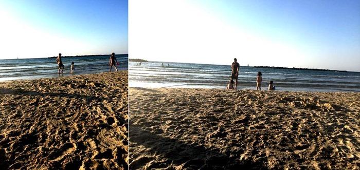 קטע של חוף בלי מטקות. הישג אמיתי!