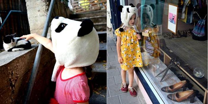 שמלה צהובה עם דובי פנדה וסושי מ H&M