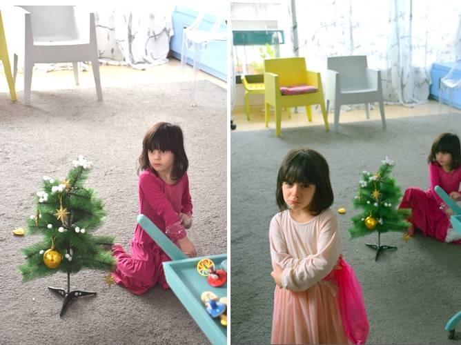 אומנות השגרה - סביבון ועץ אשוח