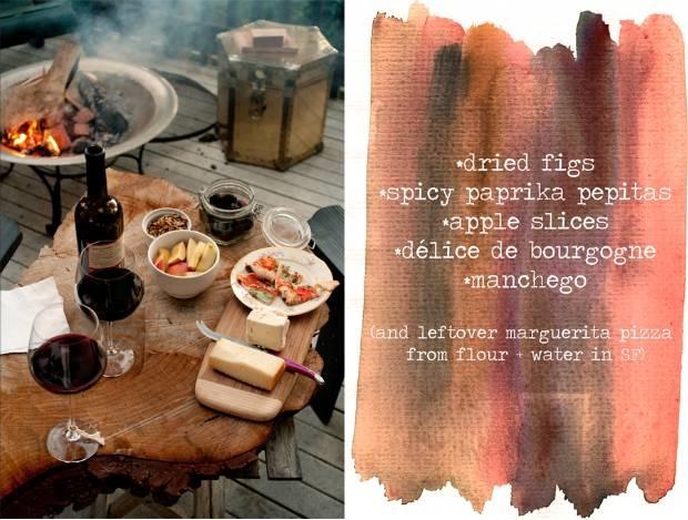 ערב גבינות ויין ביער